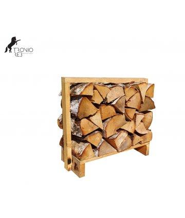 Bříza - dekorativní krbové dřevo do NIKY - paleta 0,1m3 (67x33x50 cm), ilustrační foto.