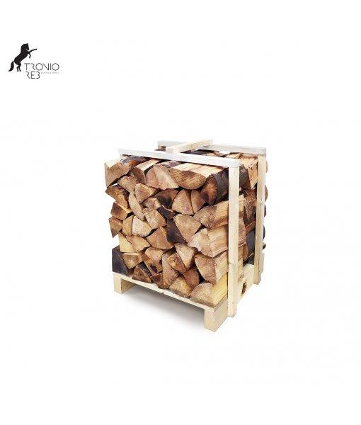 Jasan - dekorativní krbové dřevo do NIKY - paleta 0,25m3 (67x67x55 cm), ilustrační foto.