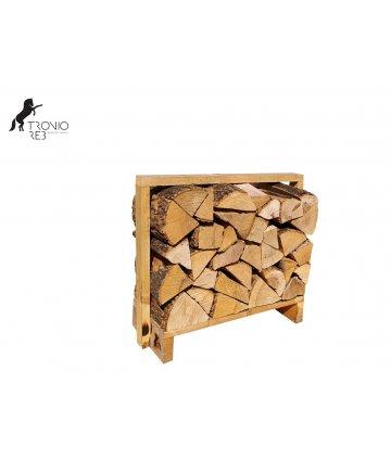 Jasan - dekorativní krbové dřevo do NIKY - paleta 0,1m3 (67x33x50 cm), ilustrační foto.