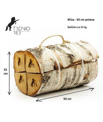 Luxusní suché krbové dřevo Tronio Reb - 50cm bříza
