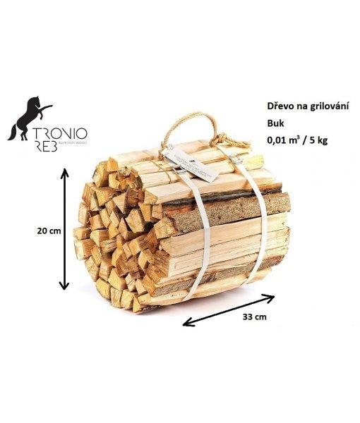 Dřevo na grilování Tronio Reb - buk 8 ks mini balení (na 8 grilování) - 40 kg / 0.08 PRMR