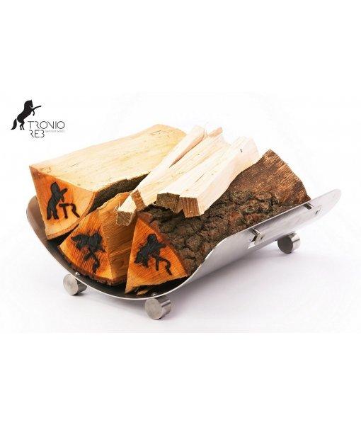 Nerezový koš na 33 cm krbové dřevo - Tronio Reb TR - KN53