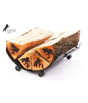 Koš na 33 cm krbové dřevo - Tronio Reb - černý/komaxit TR - KKD01