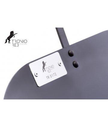 Koš na 33 cm krbové dřevo - Tronio Reb - stříbrný/komaxit TR - KKD02