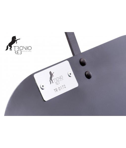 Koš na 33 cm krbové dřevo - Tronio Reb - černý/komaxit TR - KKD03