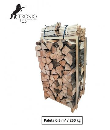 Suché krbové dřevo - Bříza - 50 cm - Tronio Reb - Economy - paleta  0,5 PRMR