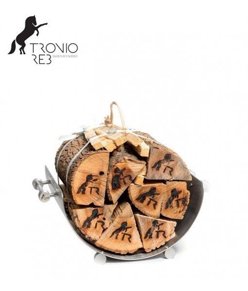 Nerezový koš na 33 cm krbové dřevo - Tronio Reb TR - KN55