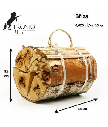 Bříza - Dekorativní (impregnované) 33 cm krbové dřevo / 2 balíčky Tronio Reb po 15 kg