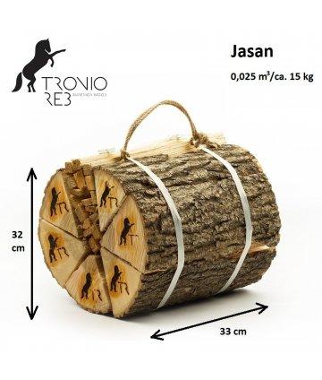 Jasan - Dekorativní (impregnované) 33 cm krbové dřevo / 2 balíčky Tronio Reb po 15 kg