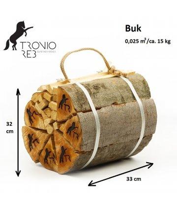Dekorativní (impregnované) krbové dřevo Buk / 33 cm - 2 balíčky Tronio Reb po 15 kg