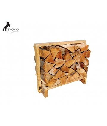 Buk - dekorativní krbové dřevo do NIKY - paleta 0,1m3 (67x33x50 cm), ilustrační foto.