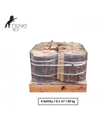 Dub - dřevo na grilování Tronio Reb - exclusive - střední balení 60 kg / 0,1 PRMR