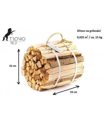 Dub - dřevo na grilování - balíček Tronio Reb 15 kg, ilustrační foto.